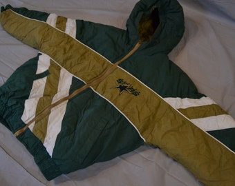 Way Cool Vintage 90's Dallas Stars Hockey Bubble Jacket / Starter Style