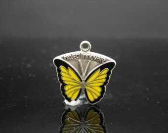 ABWA 87 Project Innovate Butterfly Charm Enamel Sterling Silver American Business Womens Association 925 Jewelry