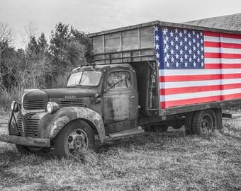 16 x 20 Old Fram Truck