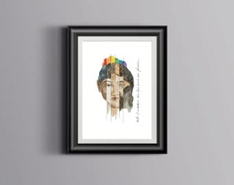 Acts 10:34 - Lord Doesn't Show Favoritism 8x10 Digital Watercolor Diversity Illustration Print
