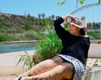 Butterflies Tattoo Tights, Tattoo Stockings , Butterflies Printed  Pantyhose