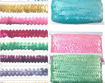 Stretch Sequin Braid W: 3/4 inch 10 meter card (Off White)