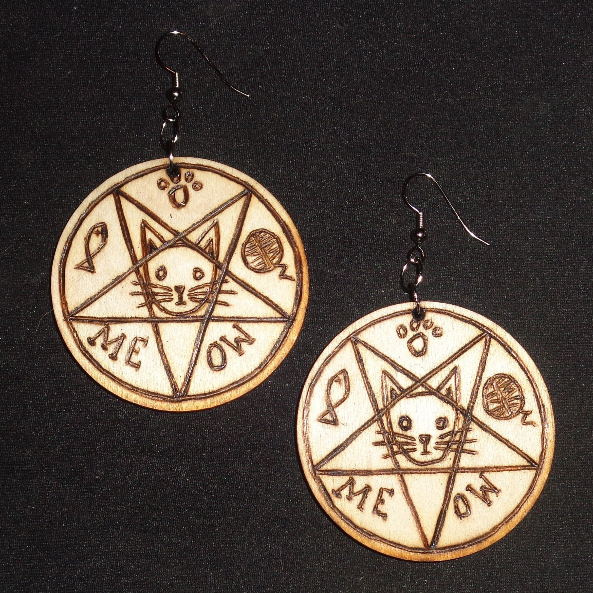 Is There Anything The Devil Can T Rock Lucifer: Church Of Satan Sigil Of Baphomet Plaque Pyrography You Pick