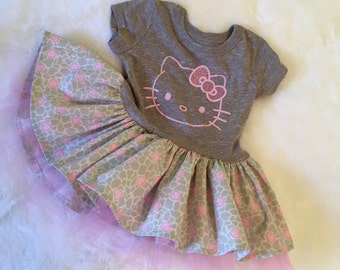 Hello Kitty T-dress 18-24 months