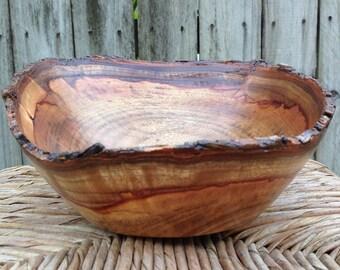 Natural Edge Camphor Bowl, Camphor Crotch Bowl, Colorful Camphor Bowl, Wooden Bowl