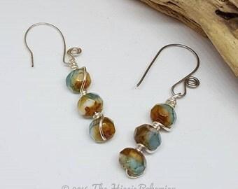 Bohochic Ocean Blue Earrings - Holiday Gift Ideas - Bohochic Earrings - Ocean Blue Earrings