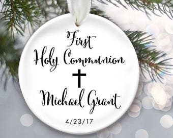 Personalized Christmas Ornament for First Holy Communion OR537
