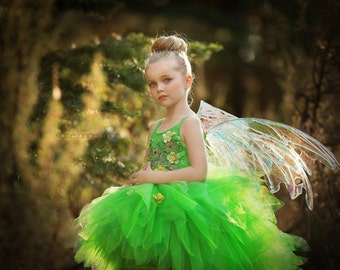 Couture Emerald Fairy Gown - Tinkerbell