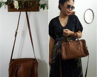 Vintage Coach British Tan Gold Distressed Beaumont Satchel Convertible Top Handle Doctors Bag Shoulder 9871 Bag