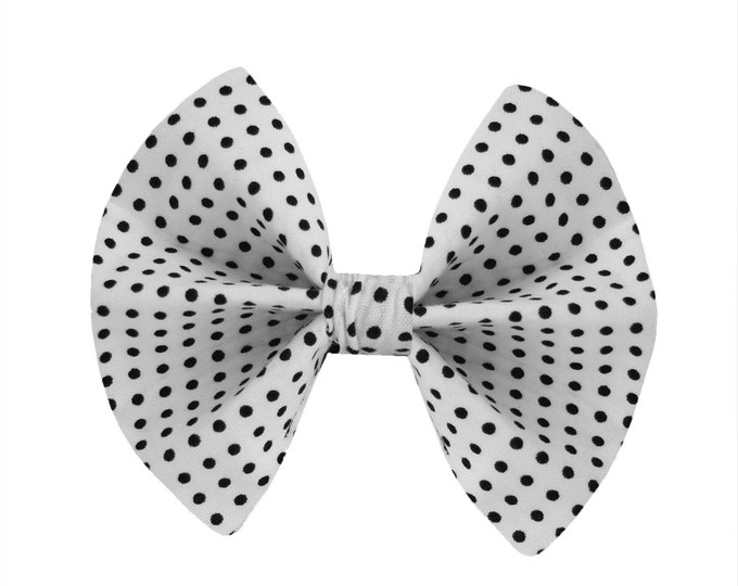 Black & White Polkadot Bowie-Tie