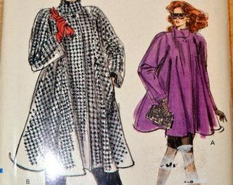 Uncut Vintage Vogue 7322, Misses' Coat, sizes 14, 16, 18