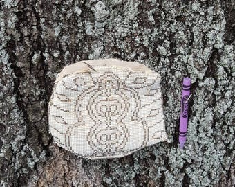 Old beaded coin purse. Carry pouch