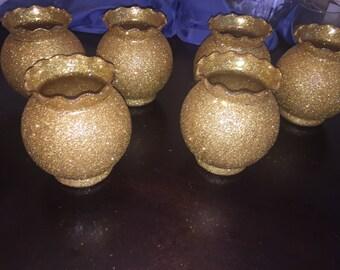 Bowl glitter vase