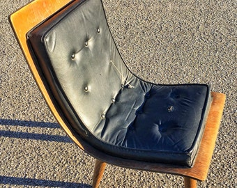 Mid century danish modern eames era bent plywood  hair in as is condition