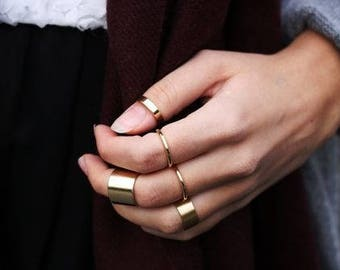 Gold Ring Set, Gold Rings, Stack Rings, Dainty Rings, Thin Rings, 3 pcs