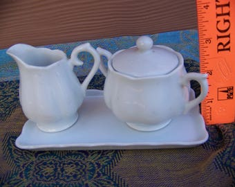 adorable mini cream and sugar set