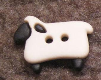 Sheep button x 6  ( White)