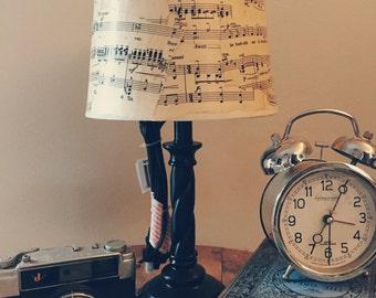 Vintage Sheet Music Lamp