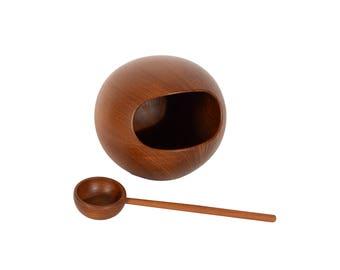 Sowe Teak Nut Bowl Sweden Sowe Konst Nut Orb