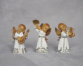 Christmas Angels - Vintage Angel Figurines - Angel Ornaments - Angel Gift - Angel Decor - Italian Angels - Vintage Christmas Ornaments