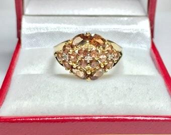GORGEOUS SMOKEY TOPAZ l Vintage 14KT Yellow Gold Ring
