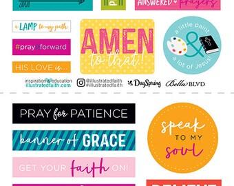 Illustrated Faith - Basics - Go Tell 2 - 6x12 Stickers - 22 pieces - 1496