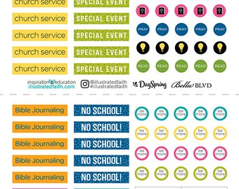 Illustrated Faith - Basics - Planner Pieces - 6x12 Stickers - 127 pieces - 1502