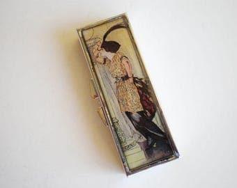 Pill box - Pill container - Mint case -  Art pill box - Gift idea - Vintage pill box