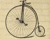 Antique Velocipede Bicycle Graphic Bike Digital Download High Wheel Bicycle Image Printable Vintage Clip Art Jpg Png Eps HQ 300dpi No.4112