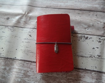 Midori/Fauxdori travelers notebook red leatherette FN size