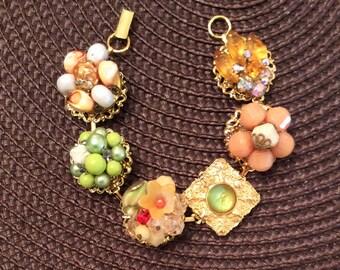 Stunning Vintage Upcycled Bracelet - One of a Kind!