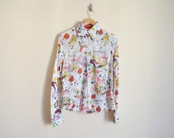 Vintage 1980s Shirt / Vintage 1980s Blouse