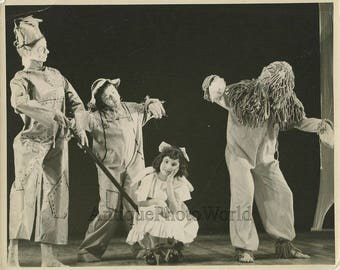 Wizard of Oz theater play children costumes 1960s photo