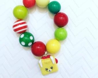 Red, Green And Yellow Shopkin Bracelets, Season 5 Shopkin Custom Bracelet, Multi Colored Shopkin Bracelet, Shopkin Birthday Gift For Girls
