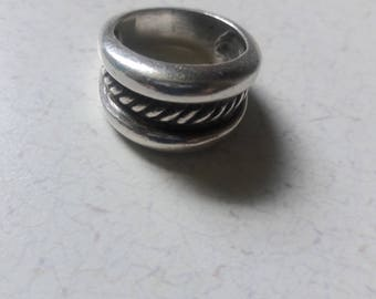 Heavy Sterling Silver 925 Ring Sz 7