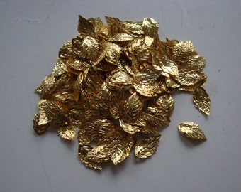 Gold plated leaf charms