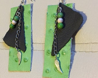 Authentic Leather Dangling Earrings