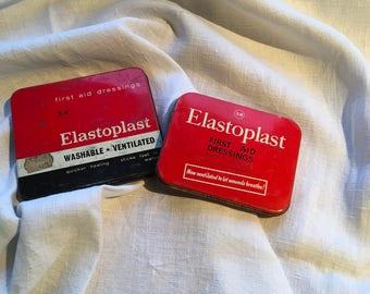Two Vintage Elastiplast Tins