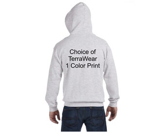 TerraWear Full Zip Hoodie Choice of Colors and Design