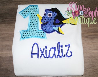 Dory Birthday Shirt - Finding Dory Top Personalized