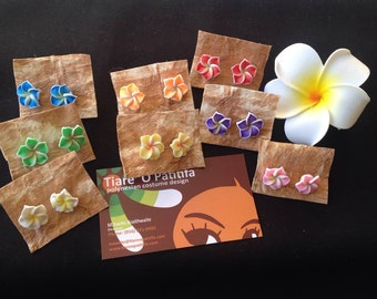 Small Pair Of Foam Plumeria Or Frangipani Earrings, Listing Is For One Pair Of Earrings Only! Pick The Color You LIke. Perfect For All Ages