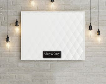 Wedding Guestbook Alternative - White Diamond