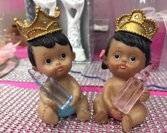 Birthday or Baby Shower Ethnic Prince Boy or Princess Girl Favor Cake Topper