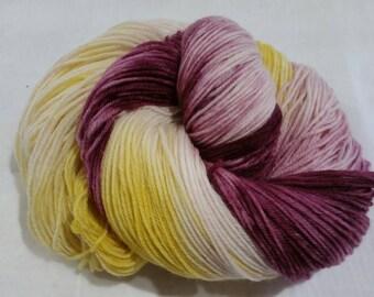 Sunflower Cabernet Hand Dyed Merino Cashmere Nylon Sock Yarn
