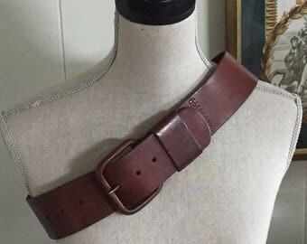 Vintage Leather Belt ... Free Shipping