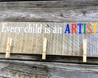 Every Child Is An Artist - White/Rainbow