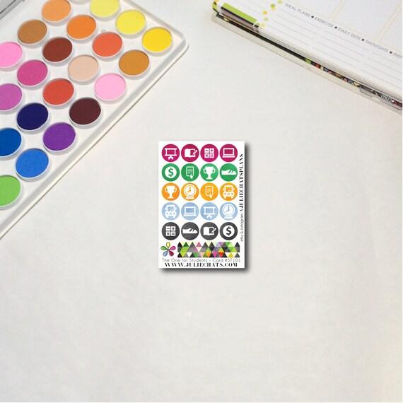 Student High School Planner Sticker Sheet, The Ones for Students - Small Card, Erin Condren, Happy Planner, Traveler's Notebook