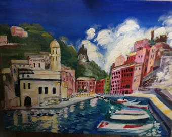 Vernazza, Italy acrylic on canvas 18 x 24