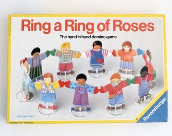 Vintage Ring a Ring of Roses domino game, by Ravensburger 1991
