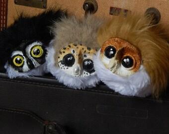 Adorable Handmade Hoot Owl Art Doll